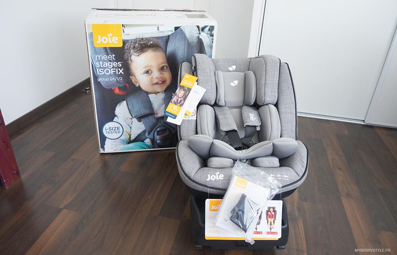 test du nouveau si ge auto stages isofix de joie maman com te. Black Bedroom Furniture Sets. Home Design Ideas